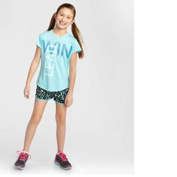 Champion Other - Champion S9846 Girls Graphic T-Shirt Turquoise NWT